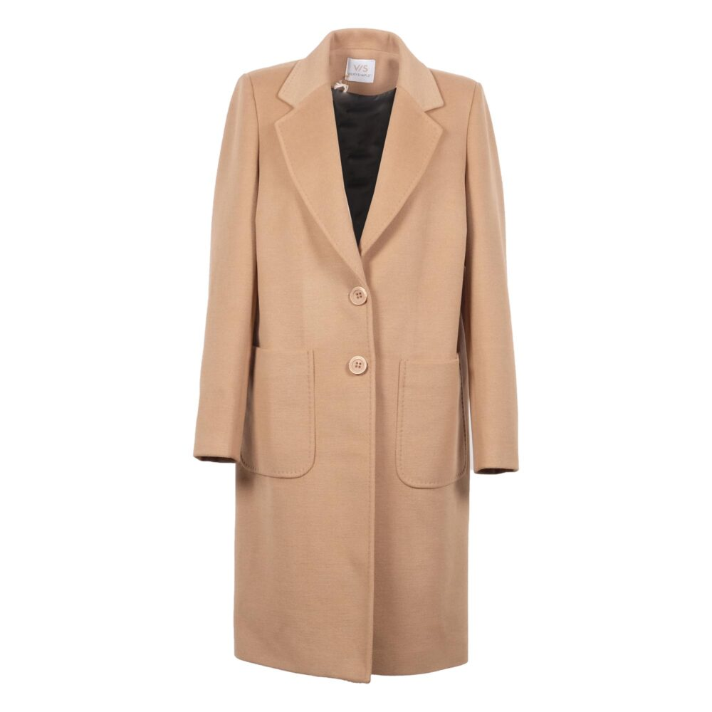 Cappotto Donna VERY SIMPLE V714AL Cammello - Tassiello